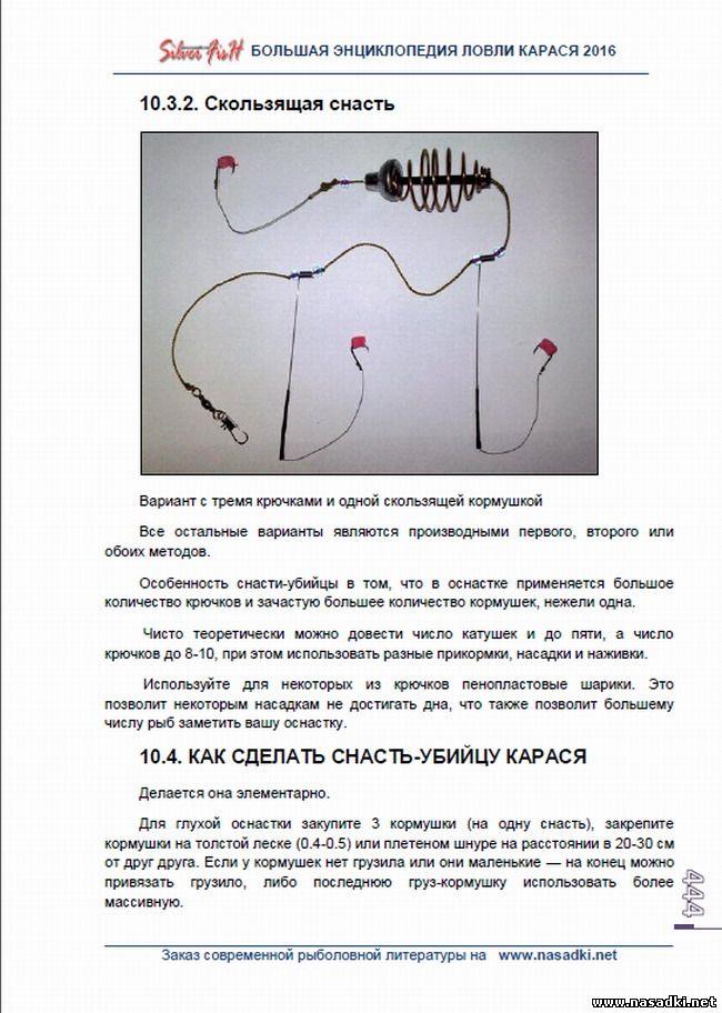 Конструкция снасти убийца-карася - Большая энциклопедия ловли карася 2016