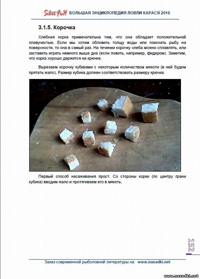 Корочка хлеба для ловли карася - Большая энциклопедия ловли карася 2016