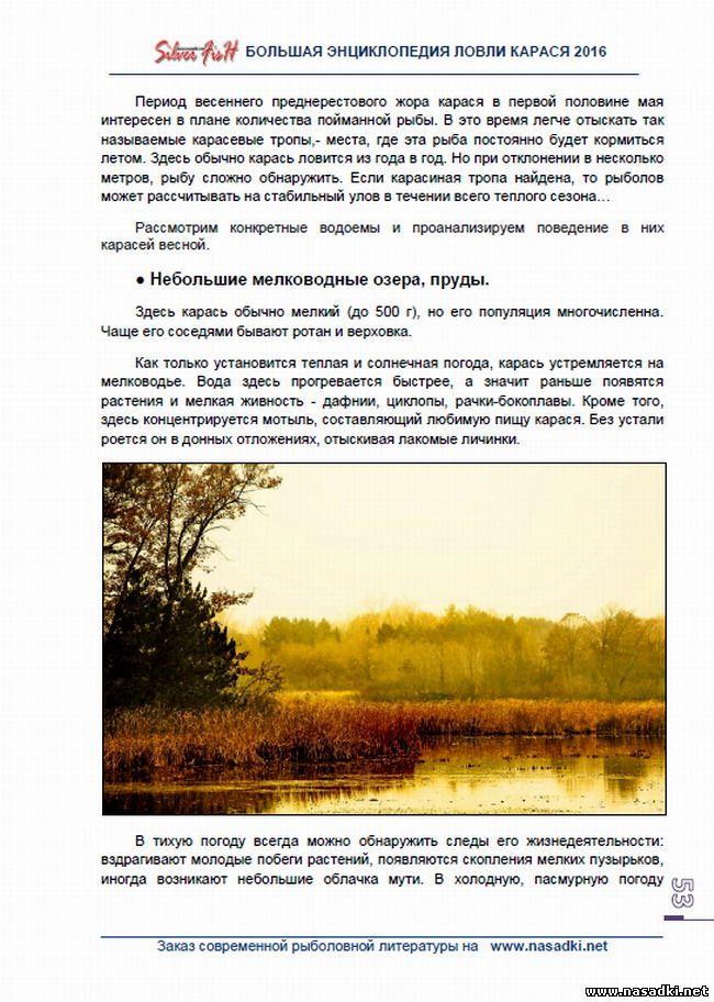 Небольшие мелководные озера - Большая энциклопедия ловли карася 2016