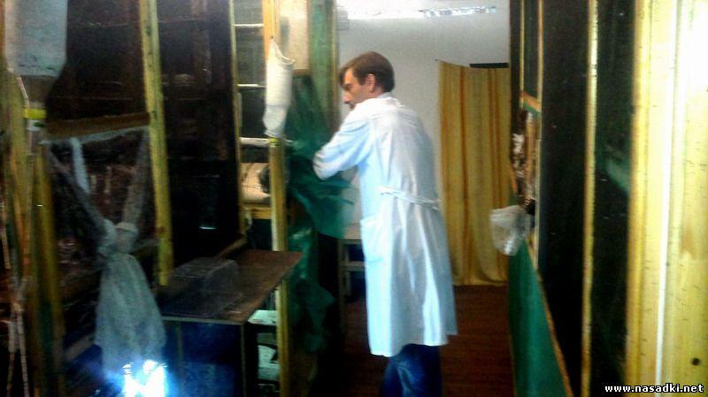 Работы с мухами на производстве опарыша в Белгороде