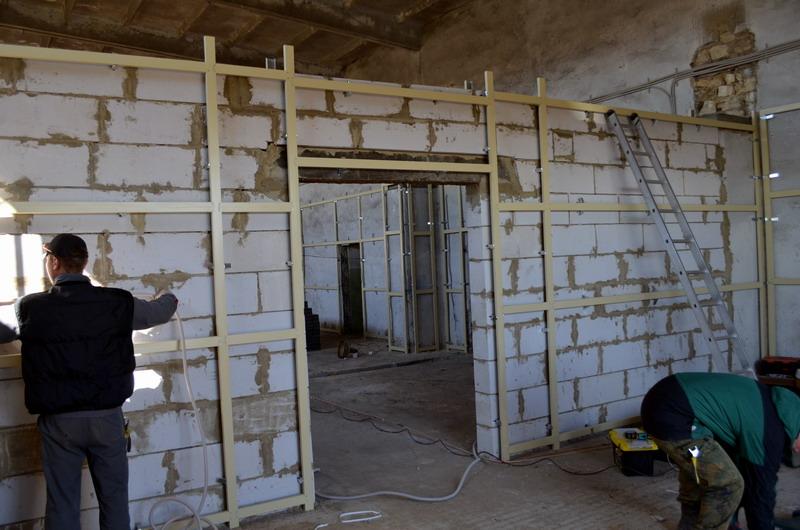 Строительство перегородок на производстве опарыша