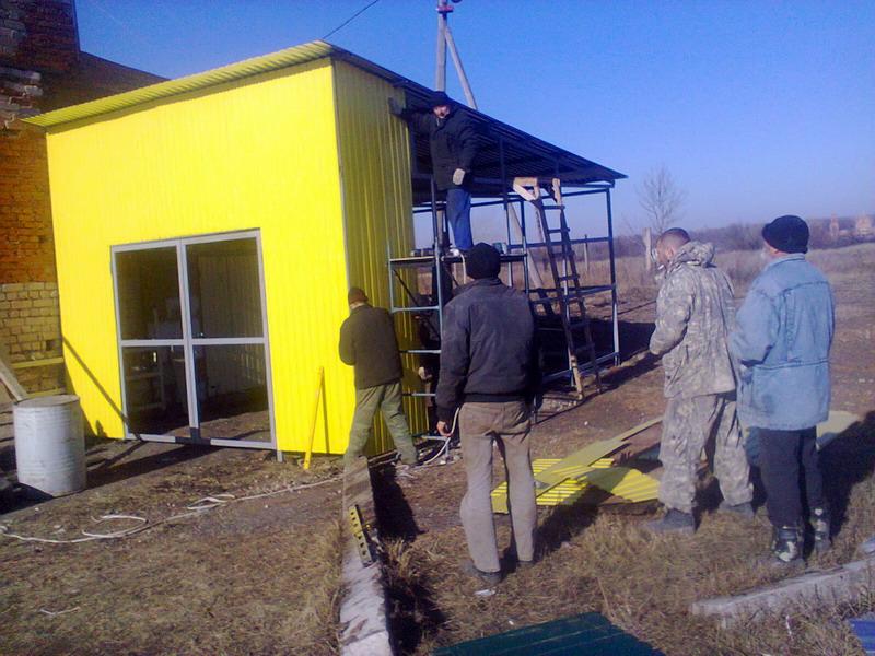 Строительство топливного склада на производстве опарыша 2