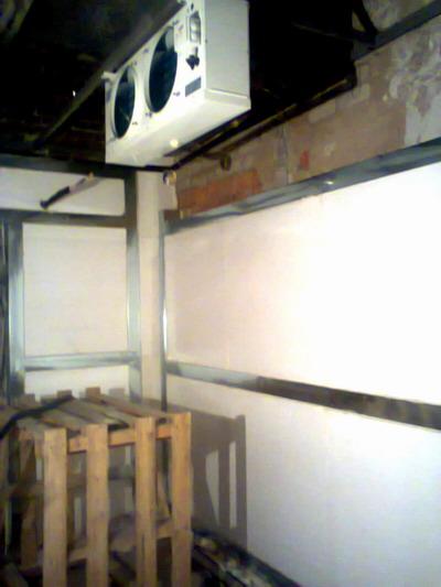 Строительство холодильной и морозильной камер производства опарыша 2