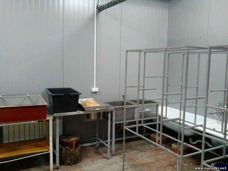 Техническое помещение на предприятии по выращиванию опарыша