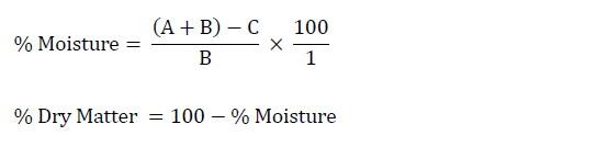 уравнение определения сухого вещества
